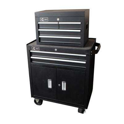 26 in. 6-Drawer Tool Chest and Cabinet Combo in Black