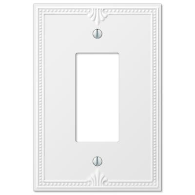 Richmond 1 Gang Rocker Composite Wall Plate - White