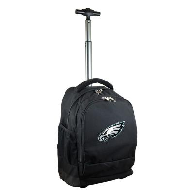 Denco NFL Philadelphia Eagles 19 in. Black Wheeled Premium Backpack