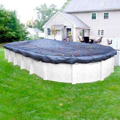 Premium 18 ft. x 33 ft. Pool Size Oval Winter Above Ground Leaf Net