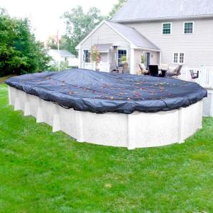 76743d688101f Blue Wave 15 ft. x 30 ft. Oval Black Leaf Net Above Ground Pool ...