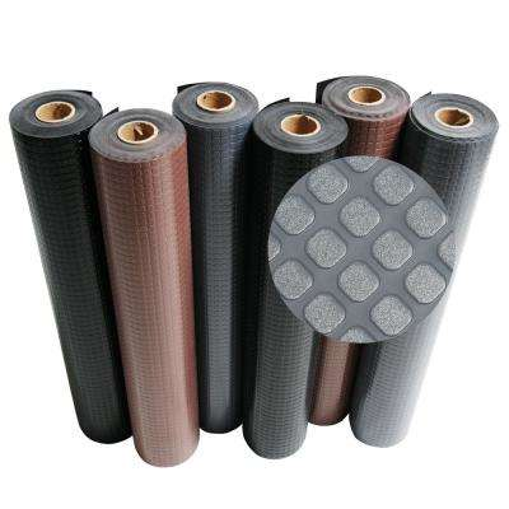 Block-Grip 4 ft. x 30 ft. Black Commercial PVC Flooring