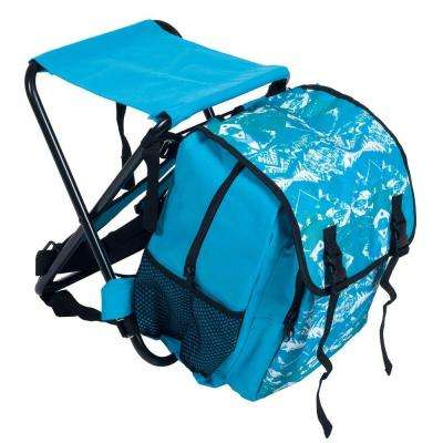 Folding Stool and Backpack Combo in Blue