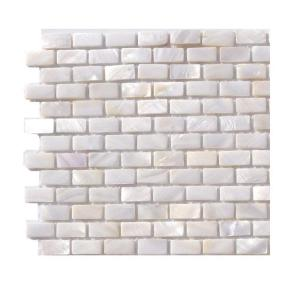 Ivy Hill Tile Pitzy Brick Castel Del Monte White Pearl Mini Brick Pattern Floor And Wall Tile 6 In X 6 In X 2 Mm Tile Sample R3d5 The Home Depot