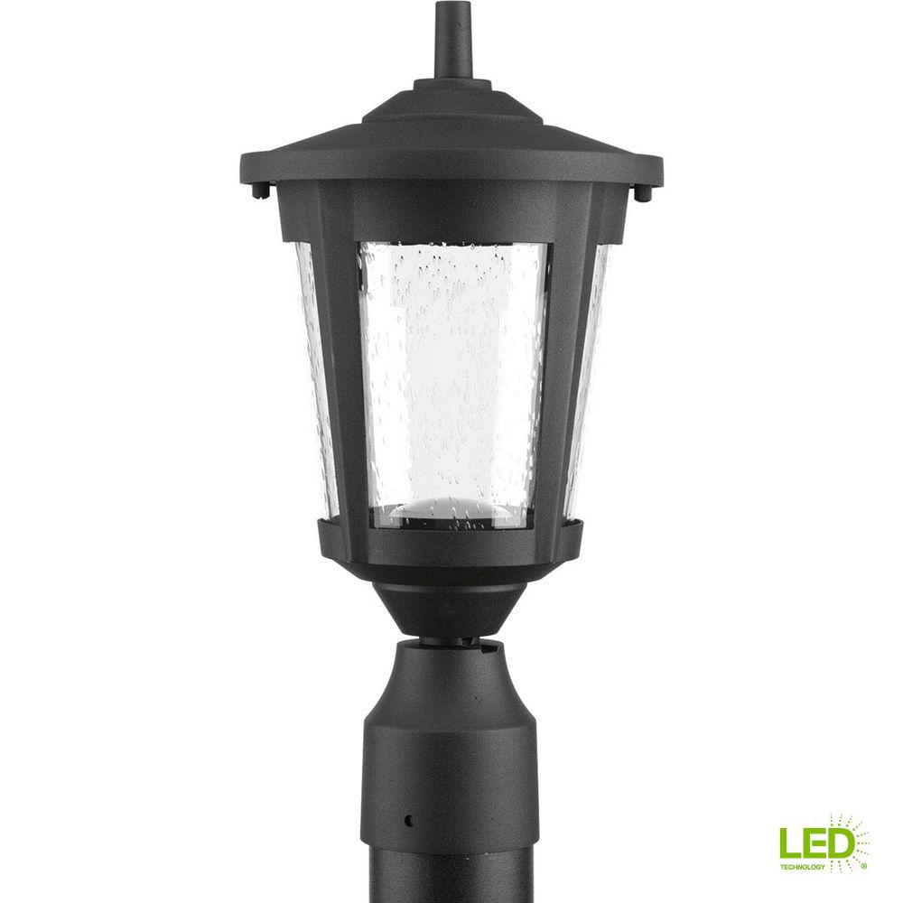 East Haven Collection 1-Light Black LED Outdoor Post Lantern