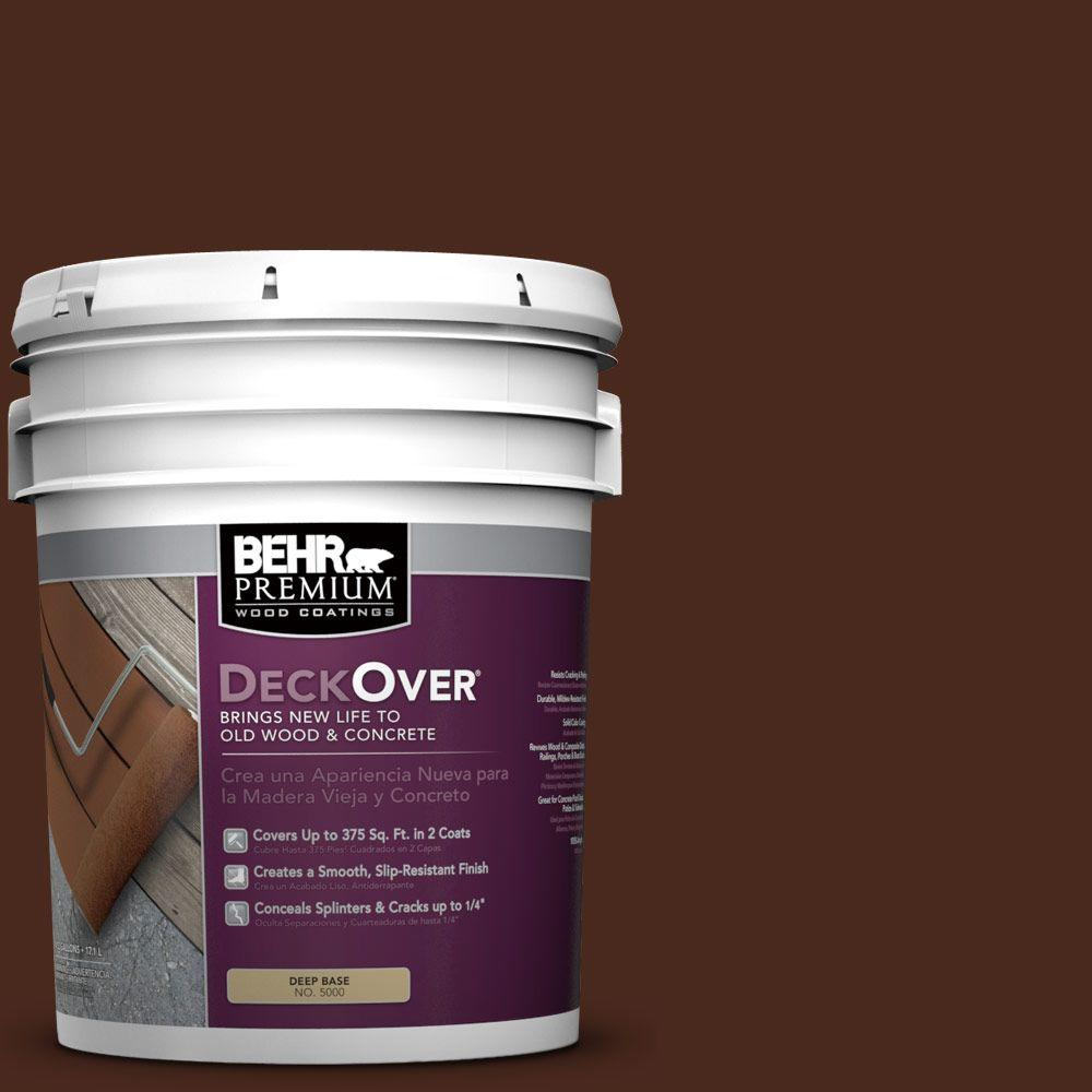 Behr Premium Deckover 5 Gal Sc 117 Russet Solid Color Exterior Wood And