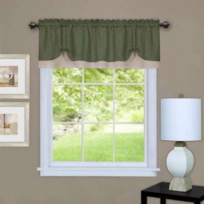 Darcy 14 in. L Polyester Valance in Green/Camel