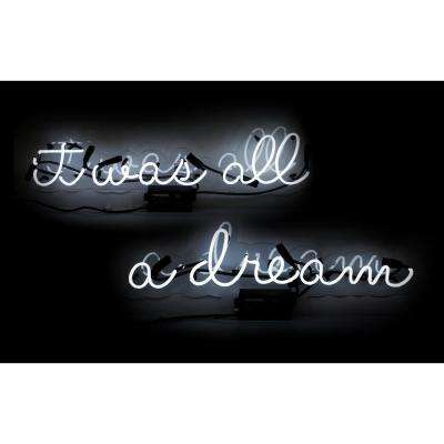 Oliver Gal 'It Was All a Dream' Plug-in 2 Piece Neon Lighted Sign