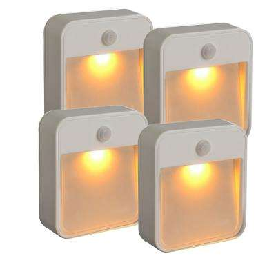 20-Lumen Stick Anywhere Amber LED Light (4-Pack)