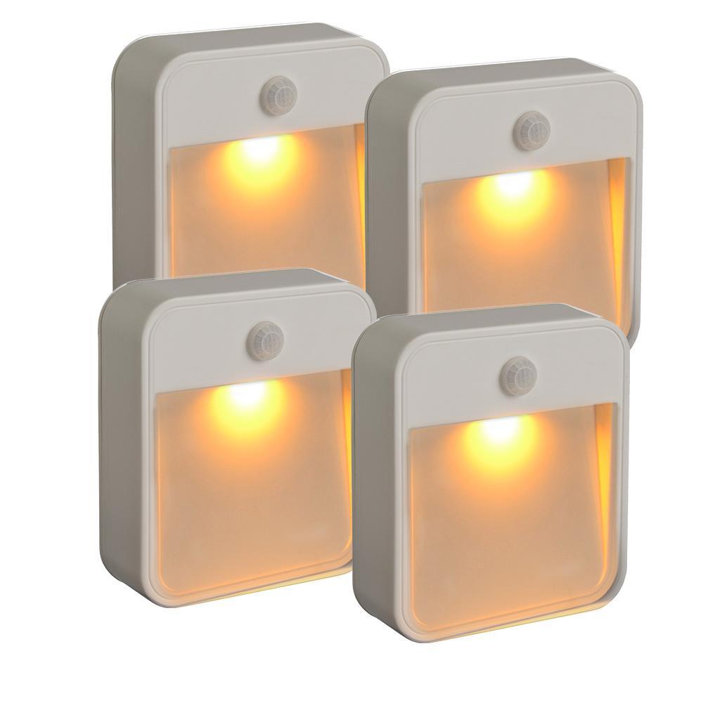 20-Lumen Stick Anywhere Amber LED Light (4-Pack)