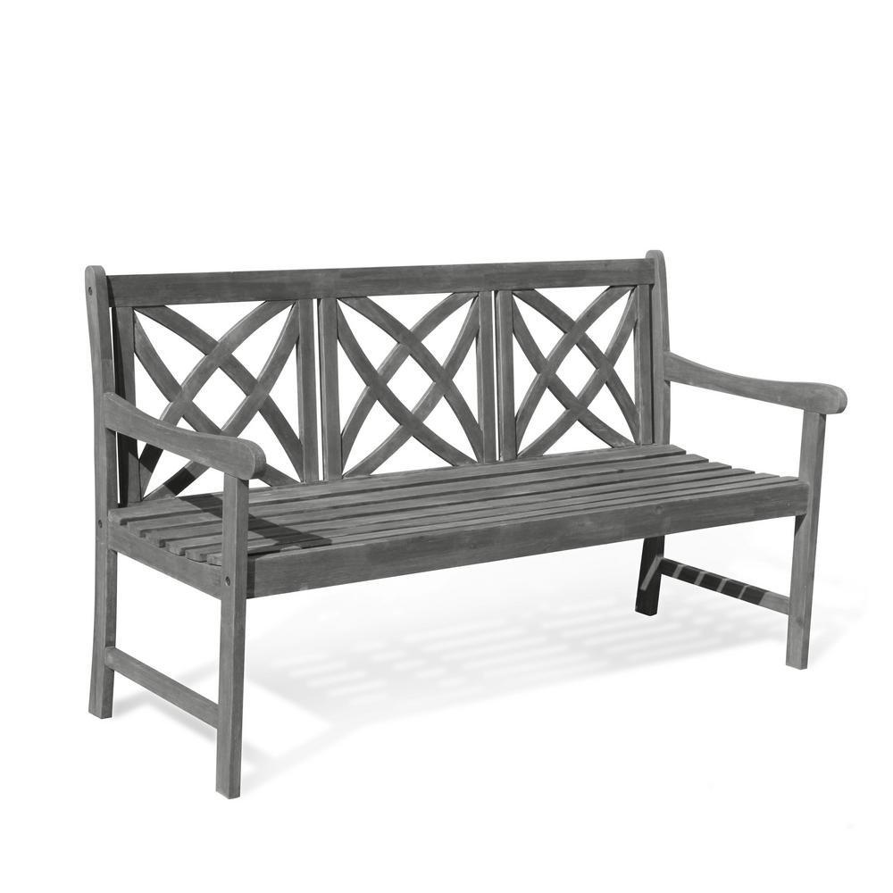 Awesome Vifah Renaissance 5 Ft Patio Bench Squirreltailoven Fun Painted Chair Ideas Images Squirreltailovenorg