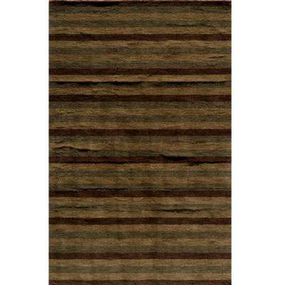 City Life Collection Brown 3 ft. 3 in. x 5 ft. 3 in. Indoor Area Rug