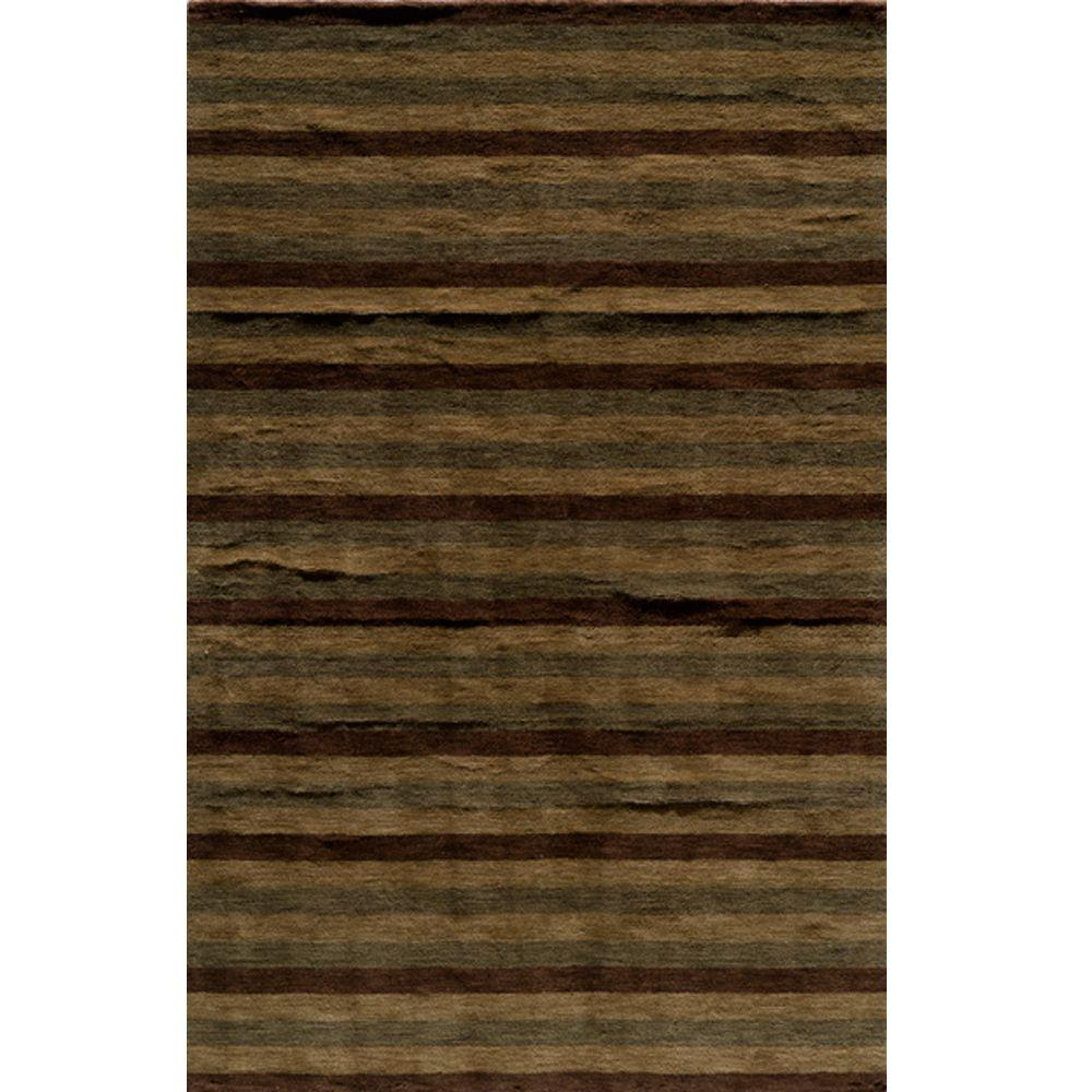 City Life Collection Brown 8 ft. x 11 ft. Indoor Area