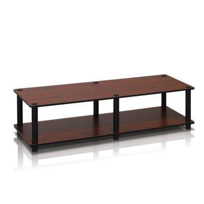 Just No Tools Dark Cherry Wide Television Stand