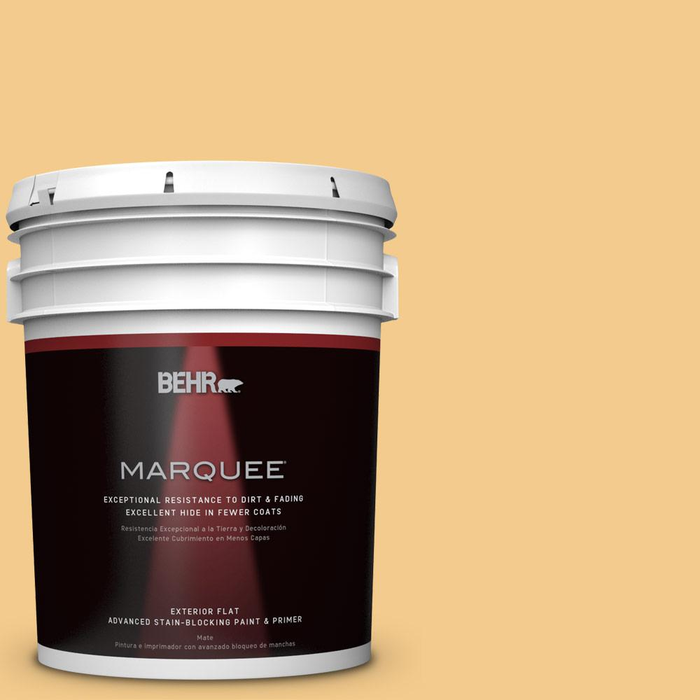 Home Decorators Collection 5-gal. #HDC-CL-16 Beacon Yellow Flat Exterior Paint