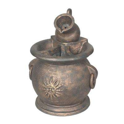 FP-CK-C 0.003 HP Copper Kettle Classical Fountain with Planter