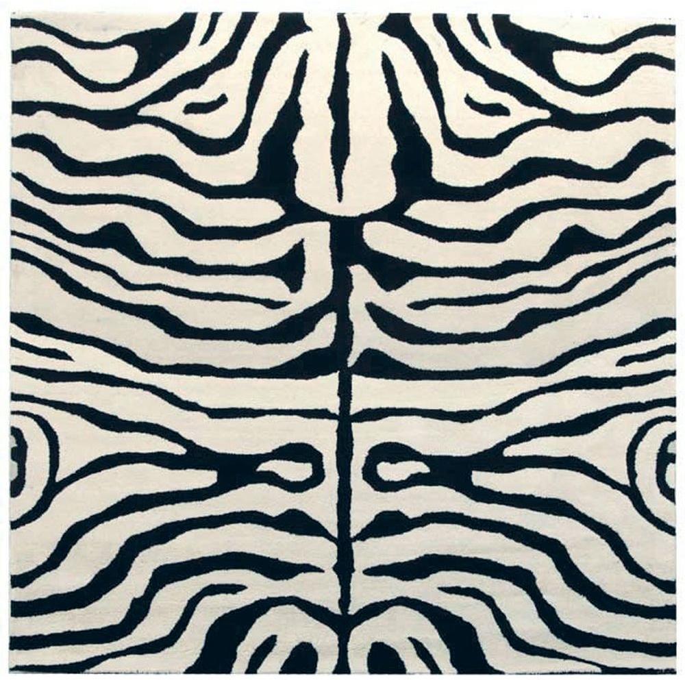 Safavieh Soho Black/White 6 ft. x 6 ft. Square Area Rug