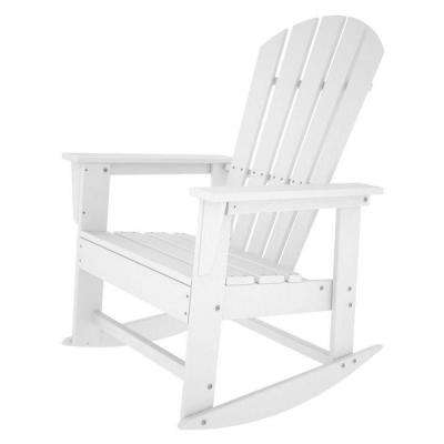 South Beach White Patio Rocker