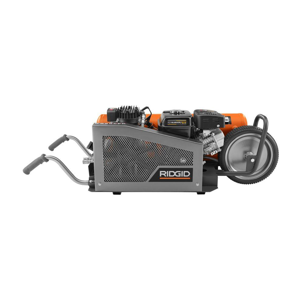 RIDGID 8 gal. Portable Gas-Powered Orange Air Compressor