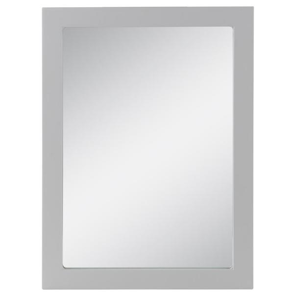 Lancaster 20 in. W x 27 in. H Framed Wall Mirror in Pearl Gray
