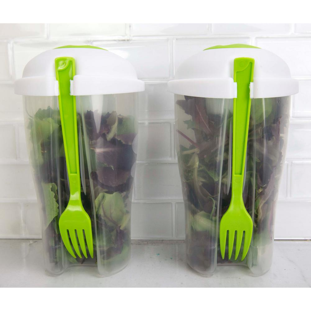 HOME basics Salad To Go Container 2 Pack SC44640 The Home Depot