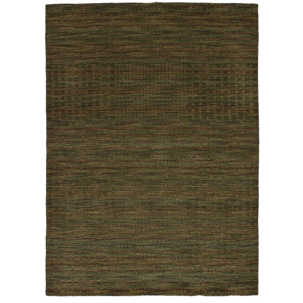 Ecarpet Gallery Luribaft Gabbeh Riz Olive 5 Ft X 8 Indoor Area Rug