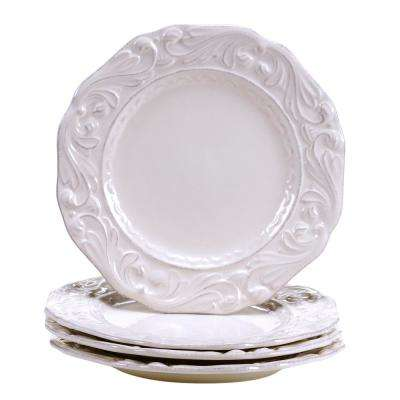 Firenze Ivory 9.5 in. Salad/Dessert Plate (Set of 4)
