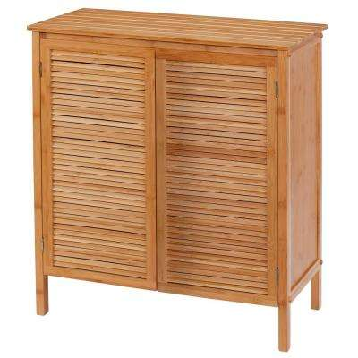 26.75 in. W x 13.75 in. D x 29.75 in. H EcoStyles Louvered Bamboo Floor Cabinet