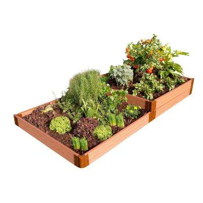 One Inch Series 4 ft. x 8 ft. x 11 in. Terraced Multi-level Classic Sienna Composite Raised Garden Bed Kit