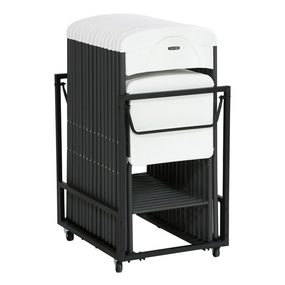 17piece white folding chair set