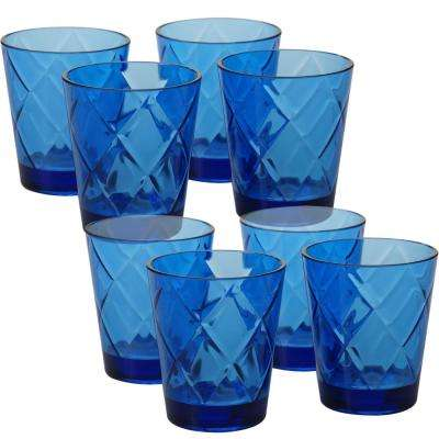 15 oz. 8-Piece Cobalt Blue Old Fashion Glass