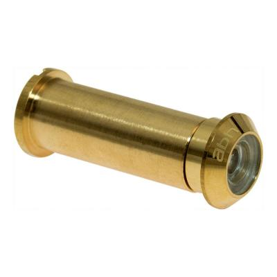 160° Bright Brass Door Viewer with Mixed Lenses