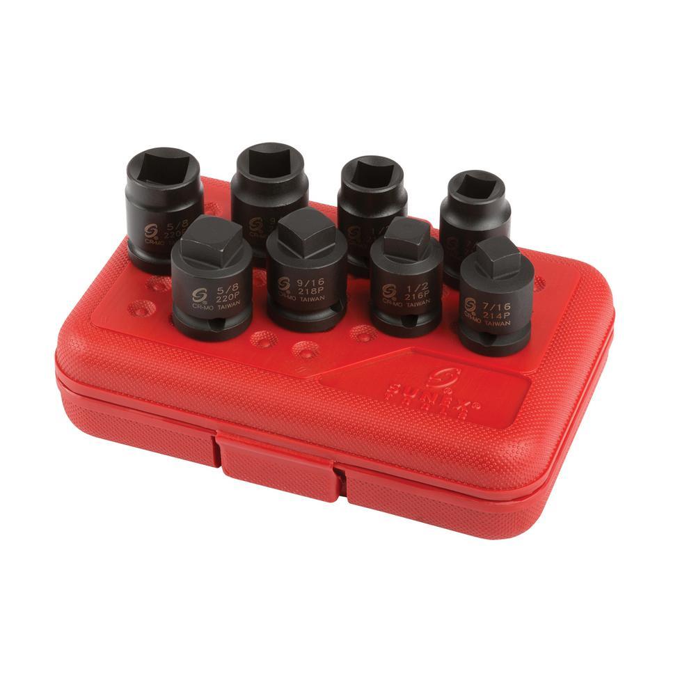 1/2 in. Drive Pipe Plug Socket Set (8-Piece)