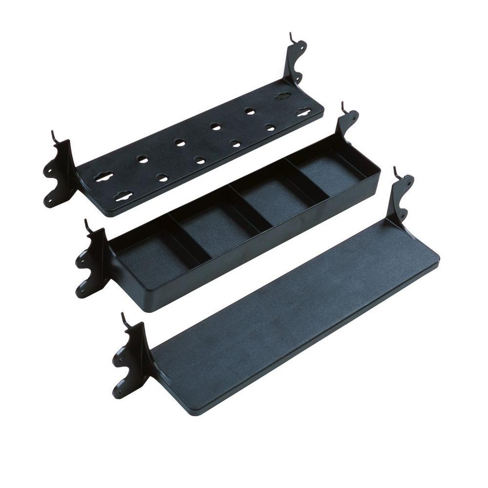 VersaShelf 14 in. x 1 in. x 3.5 in. 3-Shelf Plastic Shelving Unit Combo