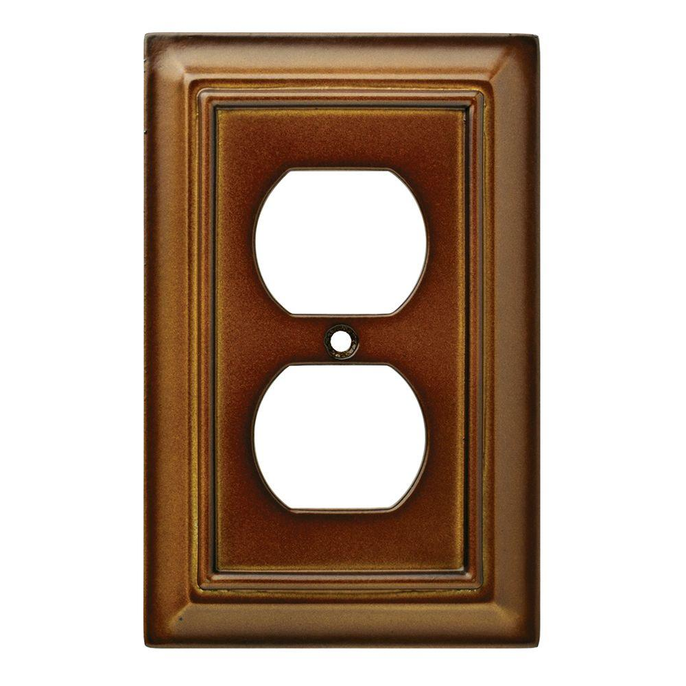 Hampton Bay Architectural Wood Decorative Single Duplex Outlet Cover Saddle