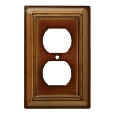 Brown 1-Gang Duplex Outlet Wall Plate (1-Pack)