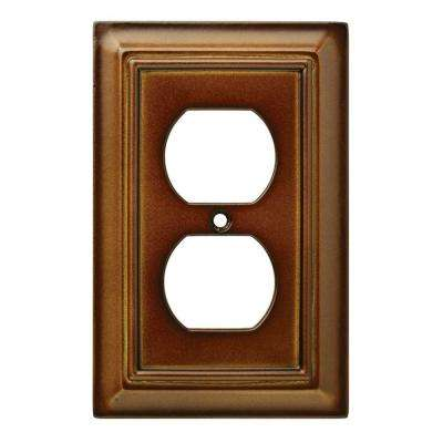Architectural Wood Decorative Single Duplex Outlet Cover, Saddle