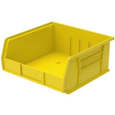 AkroBin 11 in. 50 lbs. Storage Tote Bin in Yellow with 2.0 Gal. Storage Capacity