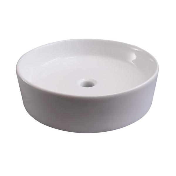 Barclay Products Shelburn Vessel Sink In White 4 8034wh The Home Depot