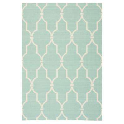 Delos Aqua 4 ft. 4 in. x 6 ft. 3 in. Indoor/Outdoor Area Rug