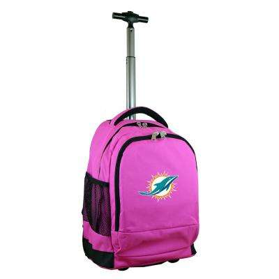 NFL Miami Dolphins 19 in. Pink Wheeled Premium Backpack
