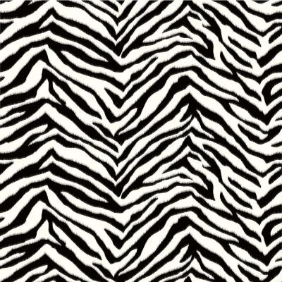 Mia Black Faux Zebra Stripes Wallpaper Sample