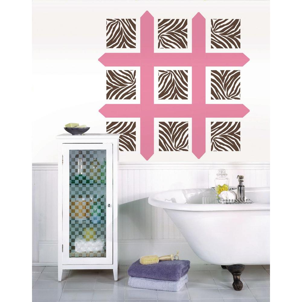 Wallpops 13 in x 13 in geo dot 8 piece wall decal for Kitchen colors with white cabinets with slime logo stickers
