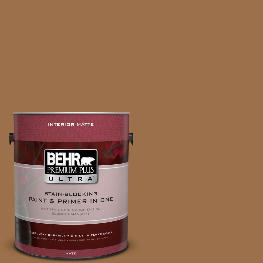 1 gal. #PPU4-17 Olympic Bronze Flat/Matte Interior Paint
