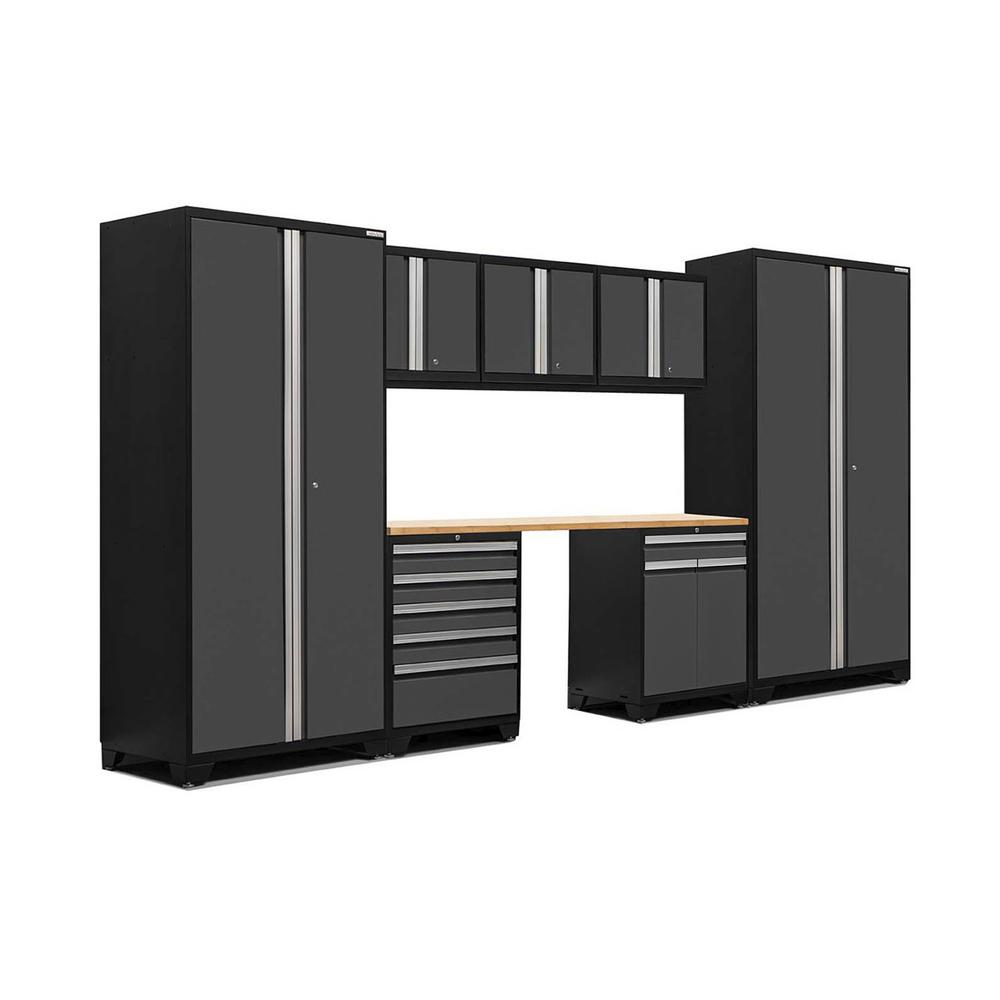 newage products pro 3 series 85 in h x 156 in w x 24 in d 18 gauge welded steel bamboo. Black Bedroom Furniture Sets. Home Design Ideas