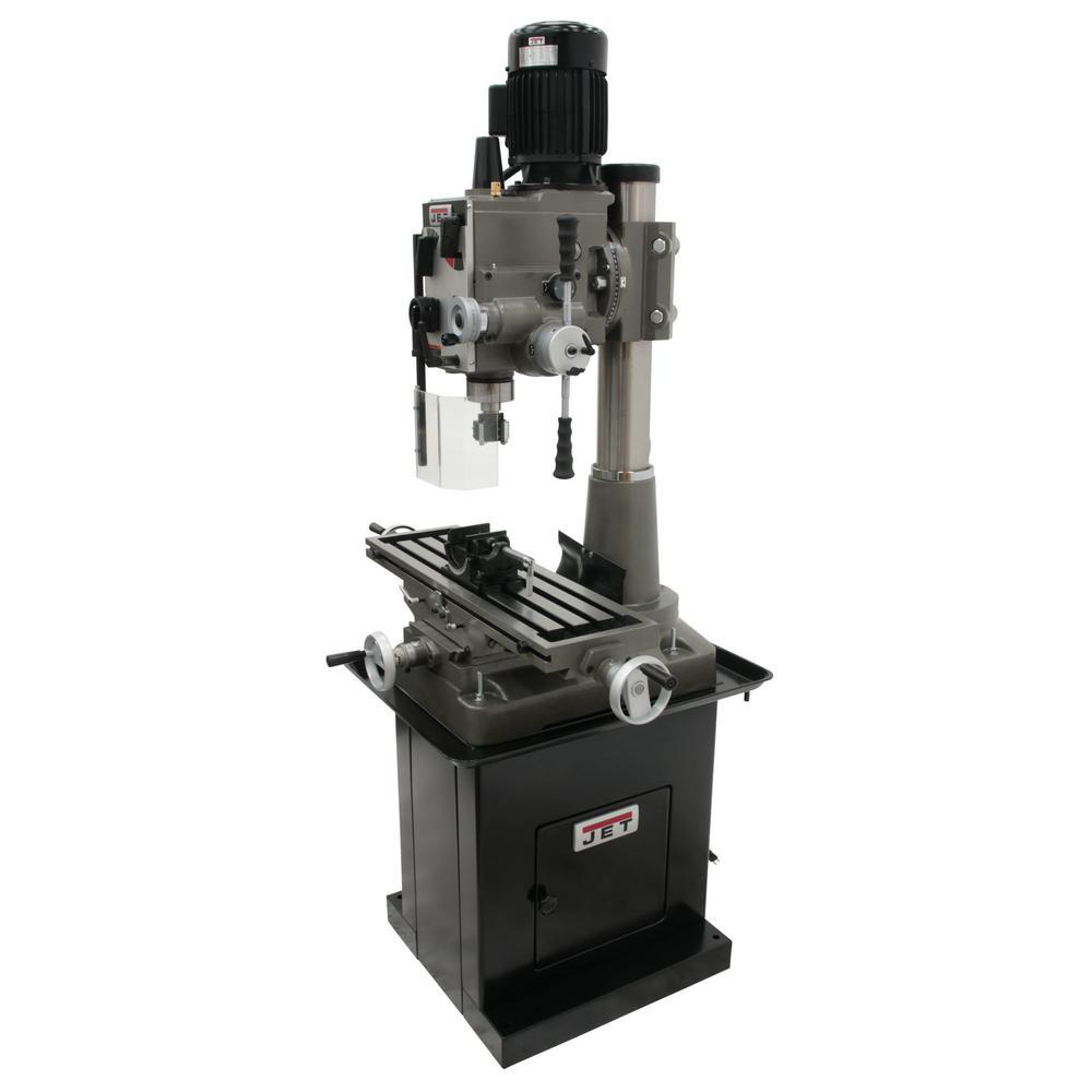 JMD-45GHPF 115-Volt/230-Volt Geared Head Square Column Mill/Drill Press with Power Downfeed