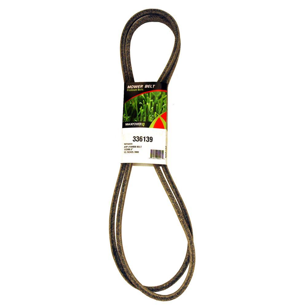 Drive Belt for Craftsman, Husqvarna, Poulan Mowers Replaces OEM #'s PP12012, 531307218, 5321449-59