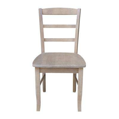 Madrid Weathered Taupe Gray Dining Chair (Set of 2)