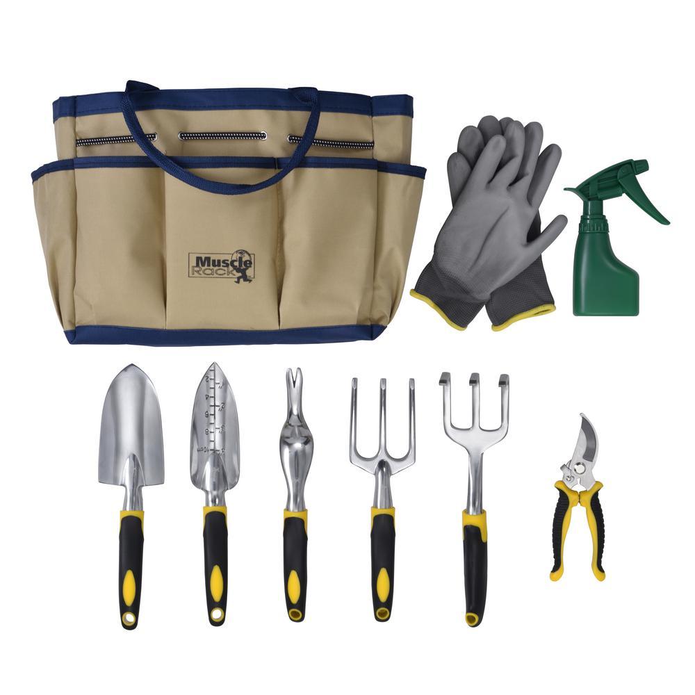 Garden Tool Set in Tote Bag (9-Piece)