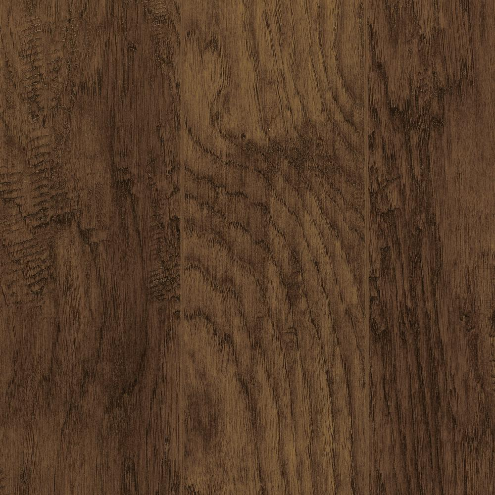 Home Decorators Collection Take Home Sample - Hand-Scraped Tanned Hickory Laminate Flooring - 5 in. x 7 in., Dark